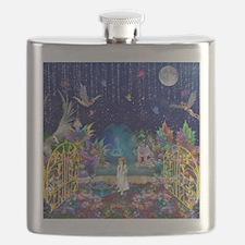 Secret Garden Fractal Collage Flask