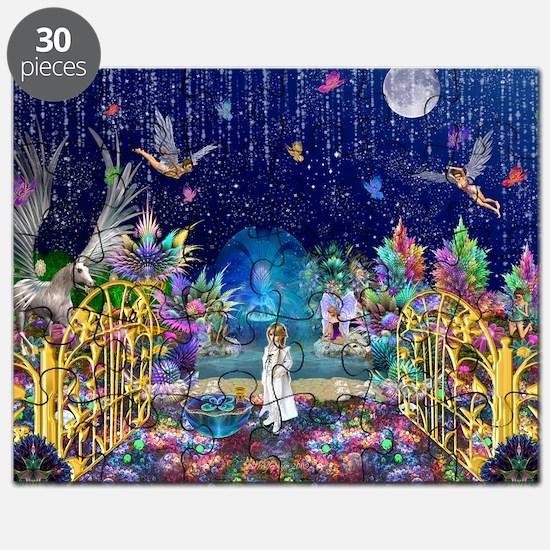 Secret Garden Fractal Collage Puzzle