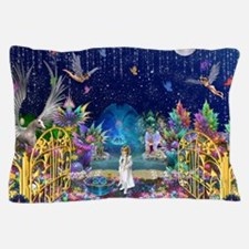 Secret Garden Fractal Collage Pillow Case