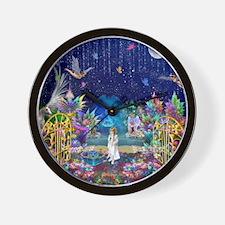 Secret Garden Fractal Collage Wall Clock