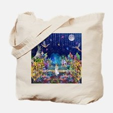 Secret Garden Fractal Collage Tote Bag