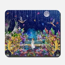 Secret Garden Fractal Collage Mousepad