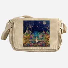 Secret Garden Fractal Collage Messenger Bag