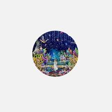 Secret Garden Fractal Collage Mini Button