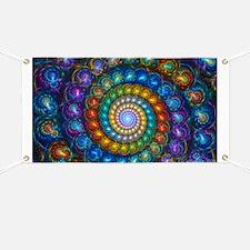 Textured Fractal Spiral Shell Beads Banner