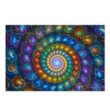Textured Fractal Spiral S Postcards (Package of 8)