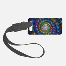 Textured Fractal Spiral Shell Be Luggage Tag