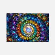 Textured Fractal Spiral Shell Bea Rectangle Magnet