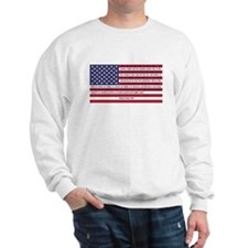 USA Flag with Thomas Paine Text Sweatshirt
