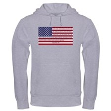 USA Flag with Thomas Paine Text Hoodie Sweatshirt
