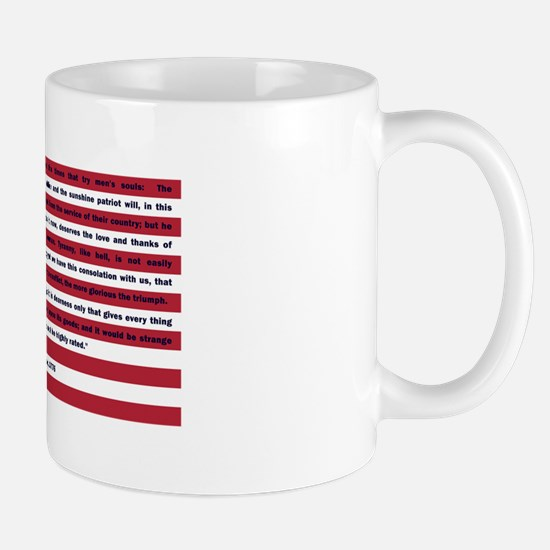 USA Flag with Thomas Paine Text Mug
