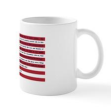 USA Flag with Thomas Paine Text Mug