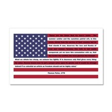 USA Flag with Thomas Paine Text Car Magnet 20 x 12