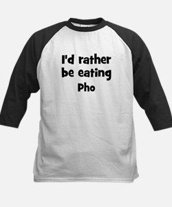 Rather be eating Pho Kids Baseball Jersey