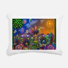 Apo Rainbow Garden Rectangular Canvas Pillow