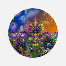 """Apo Rainbow Garden 3.5"""" Button"""