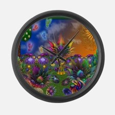 Apo Rainbow Garden Large Wall Clock