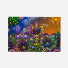 Apo Rainbow Garden Rectangle Magnet