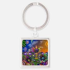 Apo Rainbow Garden Square Keychain