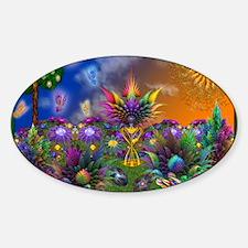 Apo Rainbow Garden Sticker (Oval)
