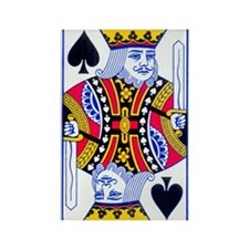 King of Spades Rectangle Magnet