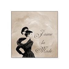 "Jaime la mode Square Sticker 3"" x 3"""