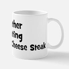 Rather be eating Philadelphi Mug
