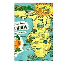 Vintage Florida Sun Map Postcards (Package of 8)