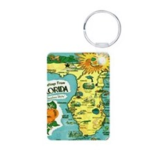 Vintage Florida Sun Map Keychains