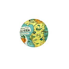 Vintage Florida Sun Map Mini Button