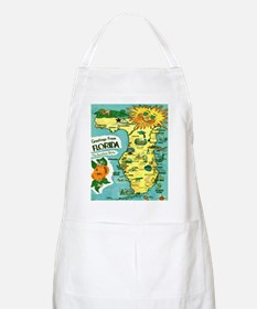 Vintage Florida Sun Map Apron