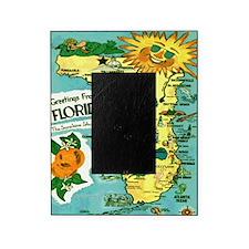 Vintage Florida Sun Map Picture Frame