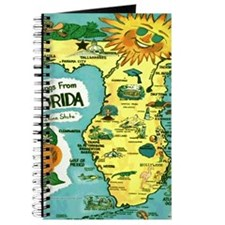 Vintage Florida Sun Map Journal