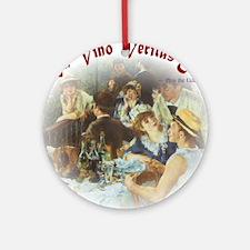 Vino Veritas Round Ornament