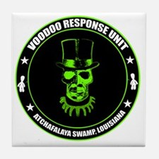 voodoo response unit Tile Coaster
