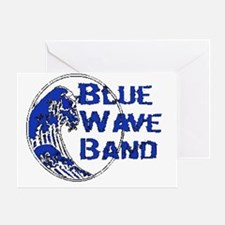 transparent blue wave logo Greeting Card