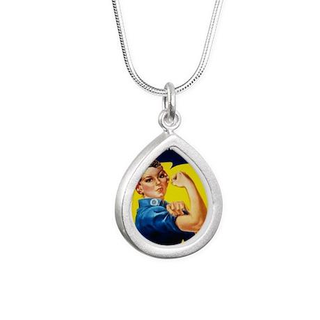 Rosie Ironman Silver Teardrop Necklace