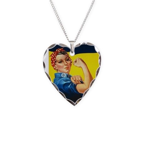 Rosie Ironman Necklace Heart Charm
