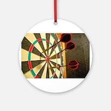 Darts in a Dartboard Ornament (Round)