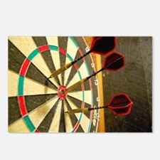 Darts in a Dartboard Postcards (Package of 8)