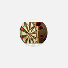 Darts in a Dartboard Mini Button
