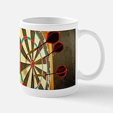 Darts in a Dartboard Mugs