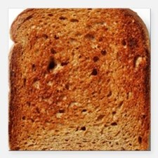 "Toast Square Car Magnet 3"" x 3"""