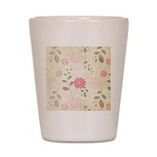 Pink Flowers Shot Glass