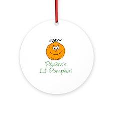 Peperes Little Pumpkin Round Ornament