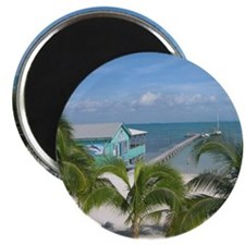 Beautiful Belize beach Magnet