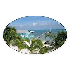 Beautiful Belize beach Decal