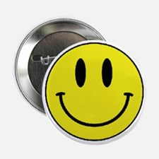 """Yellow Smiling Face 2.25"""" Button"""