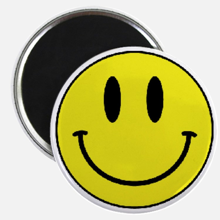 Yellow Smiling Face Magnet