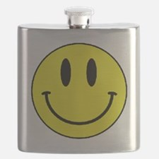 Yellow Smiling Face Flask